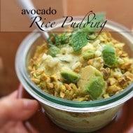 Avocado Rice Pudding Recipe