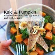 Kale Salad Recipe with Pumpkin & Fish