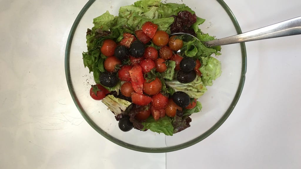 Anchovy Salad with Olives & Cherry Tomatoes | Simple ...