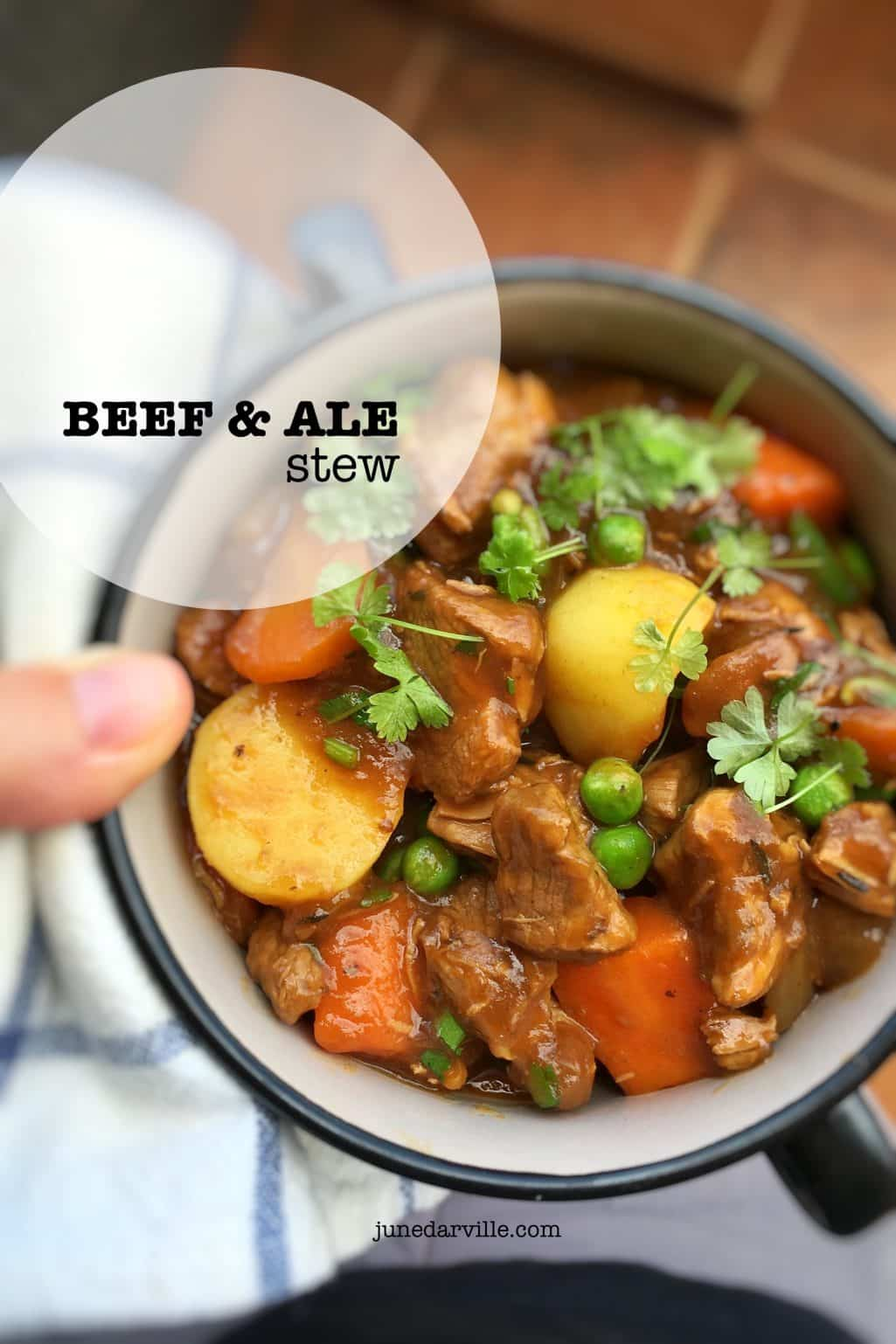 Beef And Ale Stew with Peas & Potatoes
