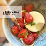 Sour Cream Panna Cotta with Strawberry Salsa