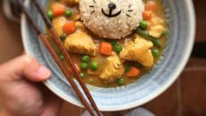 This 30 minute Japanese curry recipe with chicken, peas and carrots is one of my favorite comfort foods! Dig in and enjoy...