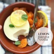 Lemon Panna Cotta with Yogurt & Cream