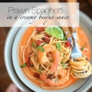 Prawn Spaghetti In Creamy Bisque Sauce