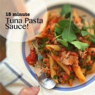 15 Minute (Tasty) Tuna Pasta Sauce