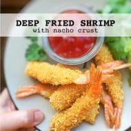 Deep Fried Shrimp in Nacho Crust