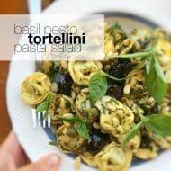 Basil Pesto Tortellini Pasta Salad Recipe