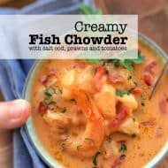 Fish Chowder with Salt Cod & Tomatoes
