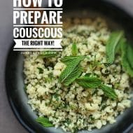 How To Cook Couscous: the right way!