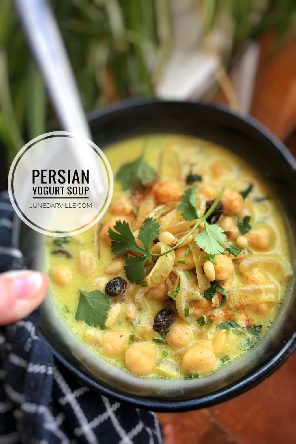 Chilled Persian Yogurt Soup Recipe