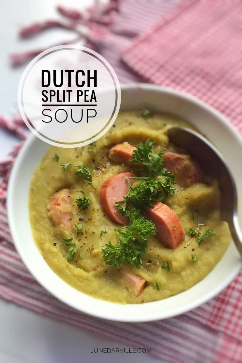 Ever heard of Dutch erwtensoep? This hearty split pea soup recipe is the perfect meal on a cold evening... With rye bread and butter!