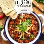 Chili Con Carne with Black Beans & Ground Beef