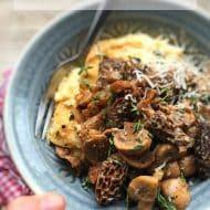 Mushroom Ragu over Buttery Polenta