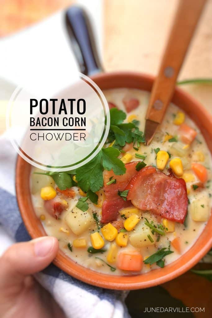 Potato Corn Chowder with Bacon | Simple. Tasty. Good.