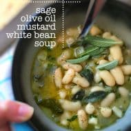 White Bean Soup Recipe with Mustard & Sage