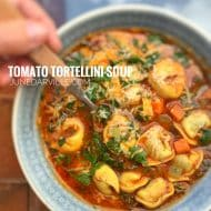 Tortellini Soup Recipe with Tomatoes & Cheese