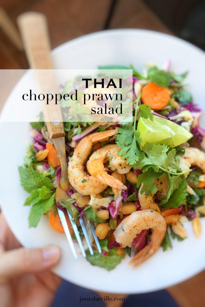 Watch my video of how I'm preparing a crunchy fresh Thai chopped prawn salad using my fabulous KitchenAid Food Processor Slicer!