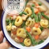 Chicken Tortellini Stew with Vegetables