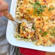 Croziflette, French Pasta Bake with Bacon & Reblochon