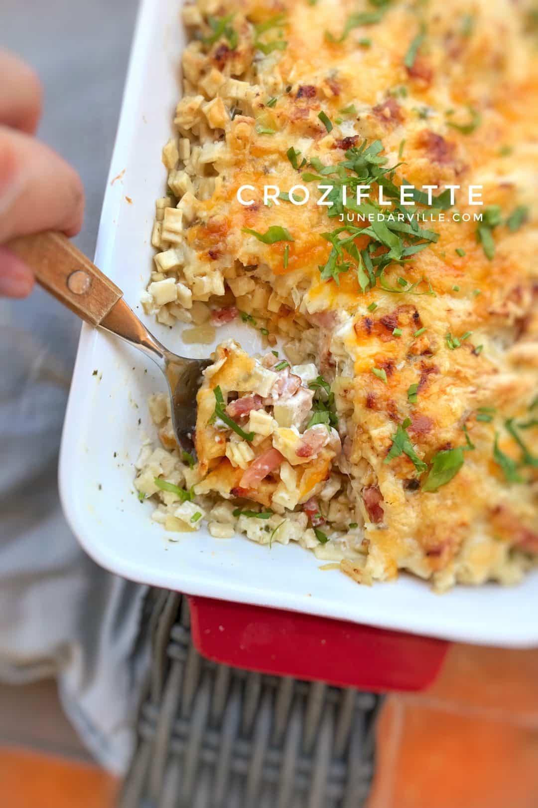 Croziflette, French Pasta Bake with Bacon & Reblochon