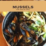 Mussels with Celery & Onion Recipe