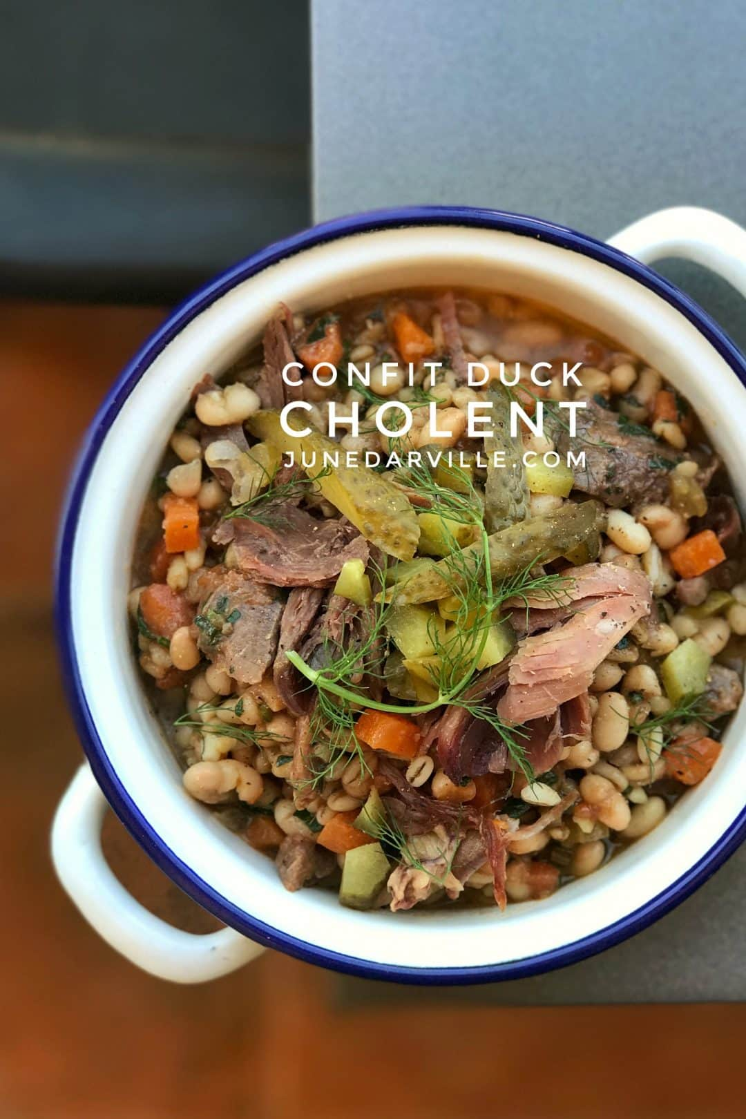 Cholent Recipe with Confit Duck & Barley