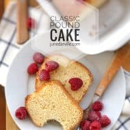 Recipe For Pound Cake (Quatre-Quarts Cake)