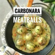 Carbonara Sauce Meatballs Recipe