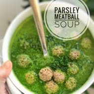 Parsley Soup with Meatballs Recipe