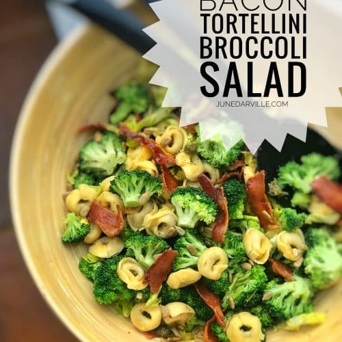 Broccoli Salad with Bacon & Tortellini