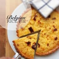 Classic Homemade Belgian Rice Pie Recipe