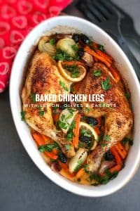 Fond of chicken legs and thighs just like me? Then definitely try out my oven roast baked chicken legs with olives, carrots and lemon!