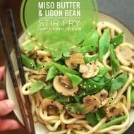 Asian Flat Bean Stirfry with Miso Butter