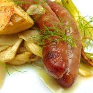 Baked Sausage with Fennel & Cider