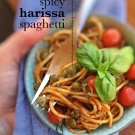 Spicy Pasta with Harissa Chili Paste