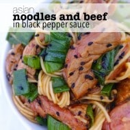 Noodles And Beef in Black Pepper Sauce