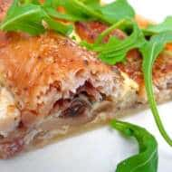 Smoked Trout Quiche with Mushrooms