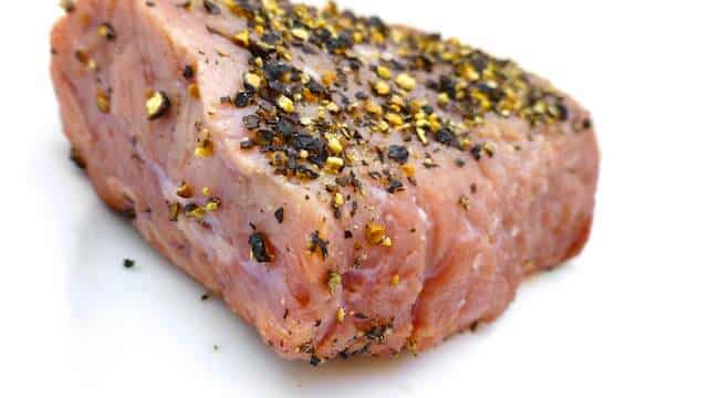 Classic steak au poivre: prepared my style with crushed black peppercorns, balsamic vinegar and worcester sauce... Delicious!