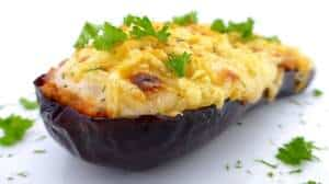 Spanish Stuffed Eggplant Recipe: also known as berenjenas rellenas... You can serve it as a side dish or as your main meal!