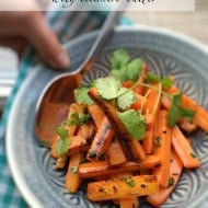 Roasted Carrots with Cilantro Butter