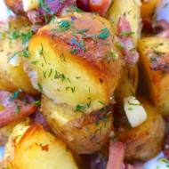 Beer Roast Potatoes Recipe with Bacon