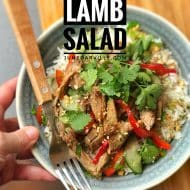 Easy Thai Leftover Lamb Salad Rice Bowls