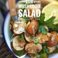 Easy Raw Mushroom Salad Recipe