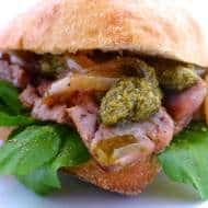 Steak Sandwich Recipe with Pesto