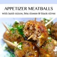 Meatball Appetizer with Lamb & Feta
