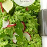 Pea Hummus with Ricotta & Mint