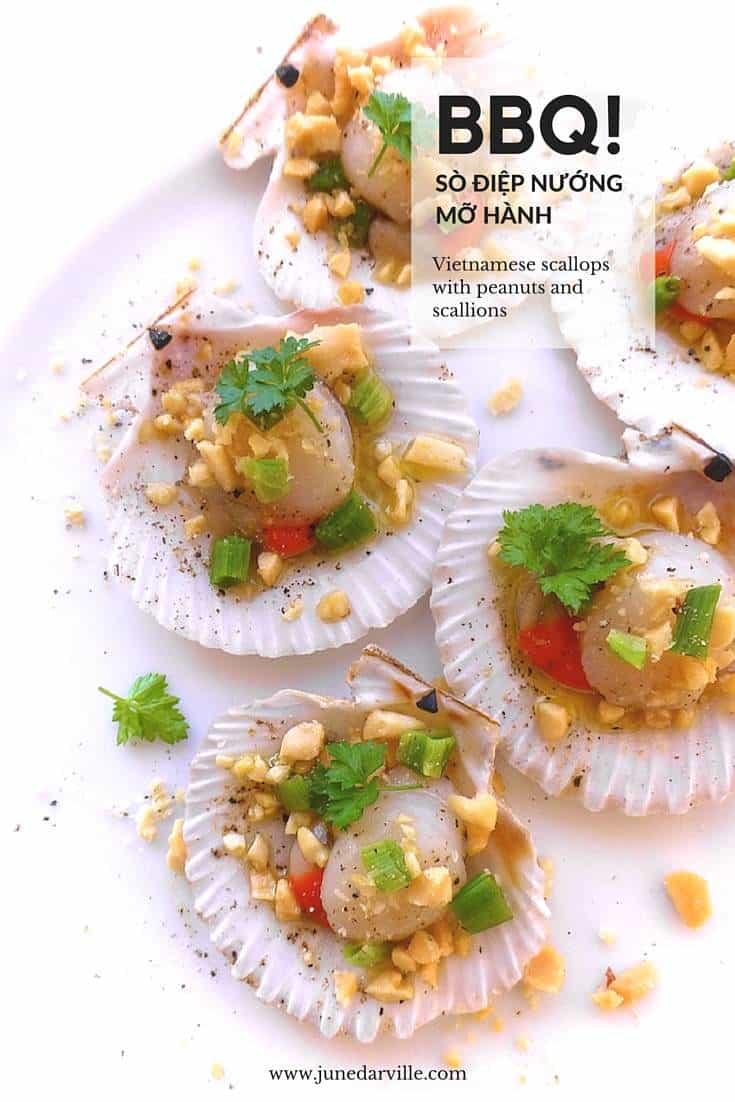 Kitchenaid Stand Mixer Recipes >> Vietnamese Scallops with Peanuts & Scallions (Sò điệp nướng mỡ hành) | Simple. Tasty. Good.