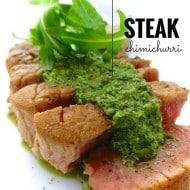Steak with Chimichurri Sauce Recipe