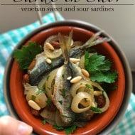 Sarde in Saor: Sardines from Venice