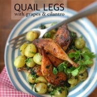 Quail with Grapes & Cilantro Recipe